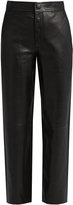 Helmut Lang High-rise wide-leg leather trousers