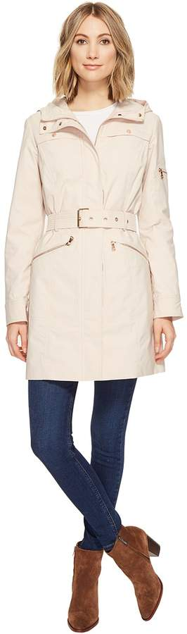 Vince Camuto Hooded and Belted Trench Women's Coat