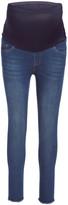 Times 2 Women's Denim Pants and Jeans MEDIUM - Medium Wash Frayed-Hem Maternity Skinny Jeans - Plus