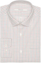 Perry Ellis Slim Fit Linear Check Dress Shirt