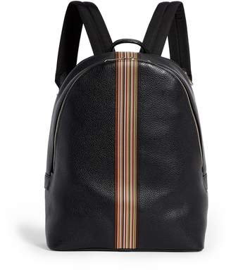 Paul Smith Leather Stripe Backpack