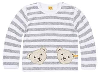 Steiff Baby Doppelbären Shirt 0002891 Sweatshirt, Softgrey Melange, (Size:62)