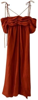 Isa Arfen \N Burgundy Silk Dresses