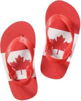 Joe Fresh Toddler Boys' Canada Flip Flops, Red (Size S)