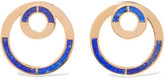 Pamela Love Quarter Gold-tone Lapis Lazuli Earrings - Blue