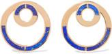 Pamela Love Quarter Gold-tone Lapis Lazuli Earrings - Blue