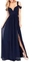 ChicNova Deep V-neck Pure Color Long Chiffon Dress