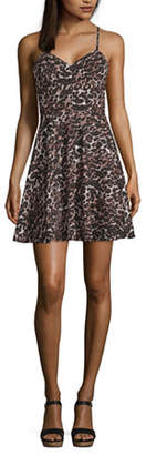 City Triangle Social Spaghetti Strap FIt & Flare Party Dress-Juniors