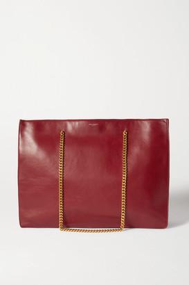 Saint Laurent Medium Leather Tote - Red