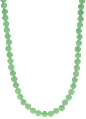 Pearlustre By Imperial Gems For You Sterling Silver Jade Bead Strand Necklace