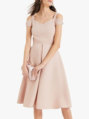Phase Eight Corali Cold Shoulder Dress, Dusty Rose