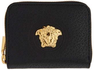 Versace Black Pecari Zip Wallet