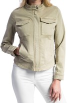 Liverpool Jeans Company Women's Peached Twill Stand Collar Jacket