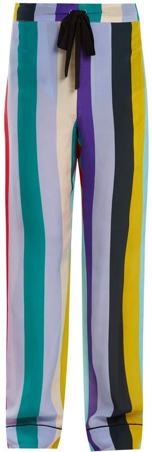 Diane von Furstenberg Straight-leg striped pyjama trousers