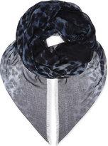 Alexander McQueen Leopard print skulls silk & modal scarf