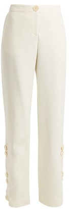 Wales Bonner Buttoned Wool-blend Trousers - Womens - Ivory