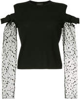 Giambattista Valli lace sleeve jumper