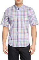 Tailorbyrd Men's Osage Regular Fit Short Sleeve Plaid Sport Shirt