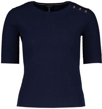 Escada Setar Basket-Weave Knit T-Shirt