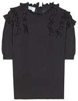 Prada Knitted Wool And Silk-blend Blouse