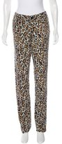 Tory Burch Leopard Print Mid-Rise Jeans