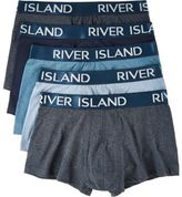 River Island MensBlue branded hipster multipack