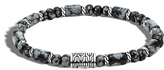 John Hardy Classic Chain Bead Bracelet with Snowflake Obsidian