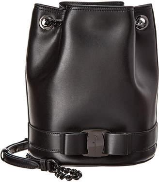 Salvatore Ferragamo Vara Rainbow Leather Bucket Bag