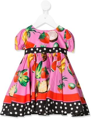 Dolce & Gabbana Graphic Print Mini Dress