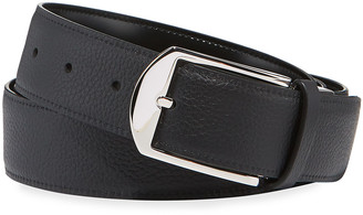 Dunhill Men's Reversible Grained/Smooth Leather Belt