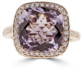 Effy Jewelry Effy 14K Rose Gold Amethyst and Diamond Ring, 6.29 TCW