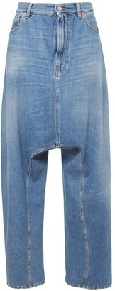 MM6 MAISON MARGIELA Dropped Crotch Cotton Denim Jeans
