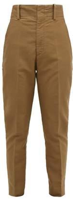 Etoile Isabel Marant Goah Tapered Cotton Trousers - Womens - Khaki