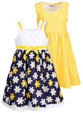 Blueberi Boulevard Little Girls 2-Pack Daisy Sundresses