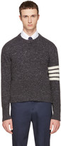 Thom Browne Grey Classic Mohair Crewneck Pullover