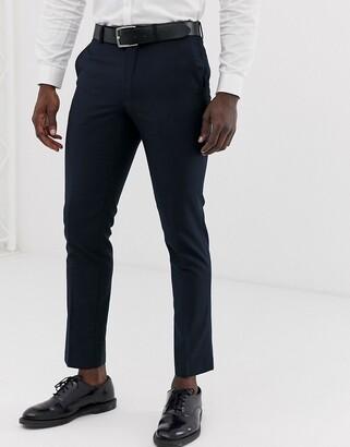 French Connection slim fit plain suit pants