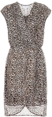 Velvet Regan leopard-print minidress