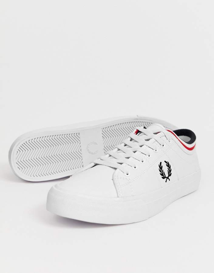 d058fd2294024 Kendrick tipped cuff leather sneakers in white