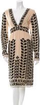 Anna Sui Wool& Silk Long Sleeve Dress