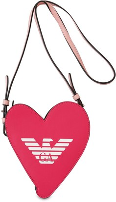 Emporio Armani Heart Faux Leather Shoulder Bag