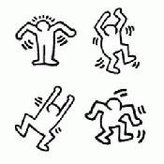 Blik Dancers Wall Stickers by Keith Haring