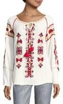 Raga Embroidered Tasseled Tunic