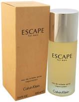 Calvin Klein Escape Men's 3.4Oz Eau De Toilette Spray