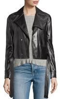Helmut Lang Belted Leather Jacket