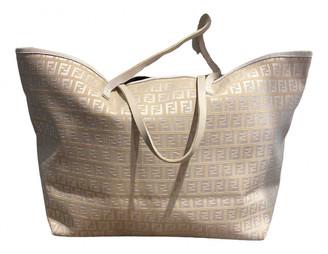 Fendi Roll Bag White Cotton Handbags