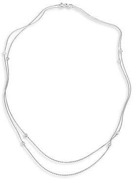 De Beers Women's Clea Sautoir Diamond & 18K White Gold Necklace