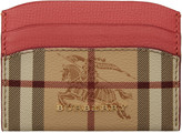 Burberry Pink Check Izzy Card Holder