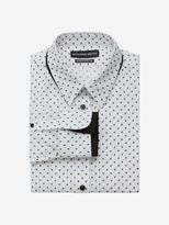 Alexander McQueen Mini Skull Print Double Collar Shirt