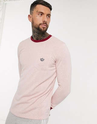 adidas premium Samstag long sleeve t-shirt in pink