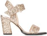 Jimmy Choo Minase 85mm glitter sandals